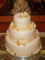 Торт весільний «Золоті серця»