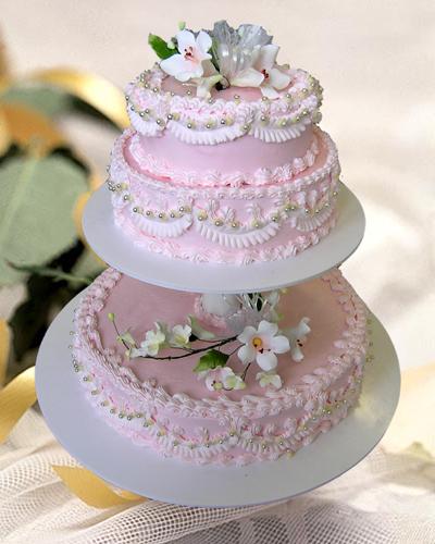 Торт весільний «Рожеве небо»