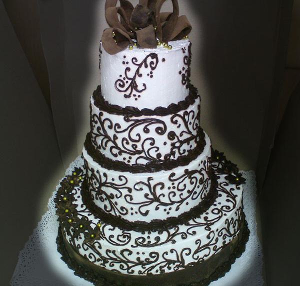 Торт весільний «Шоколадний візерунок»