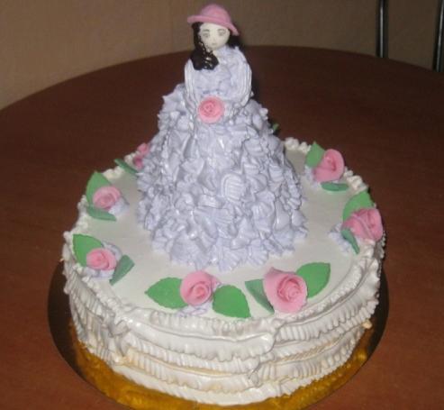 Дитячий торт «Таємнича леді»