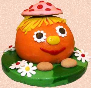 Дитячий торт «Колобок»