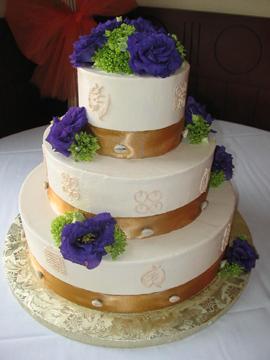 Ювілейний торт «Золота стрічка»